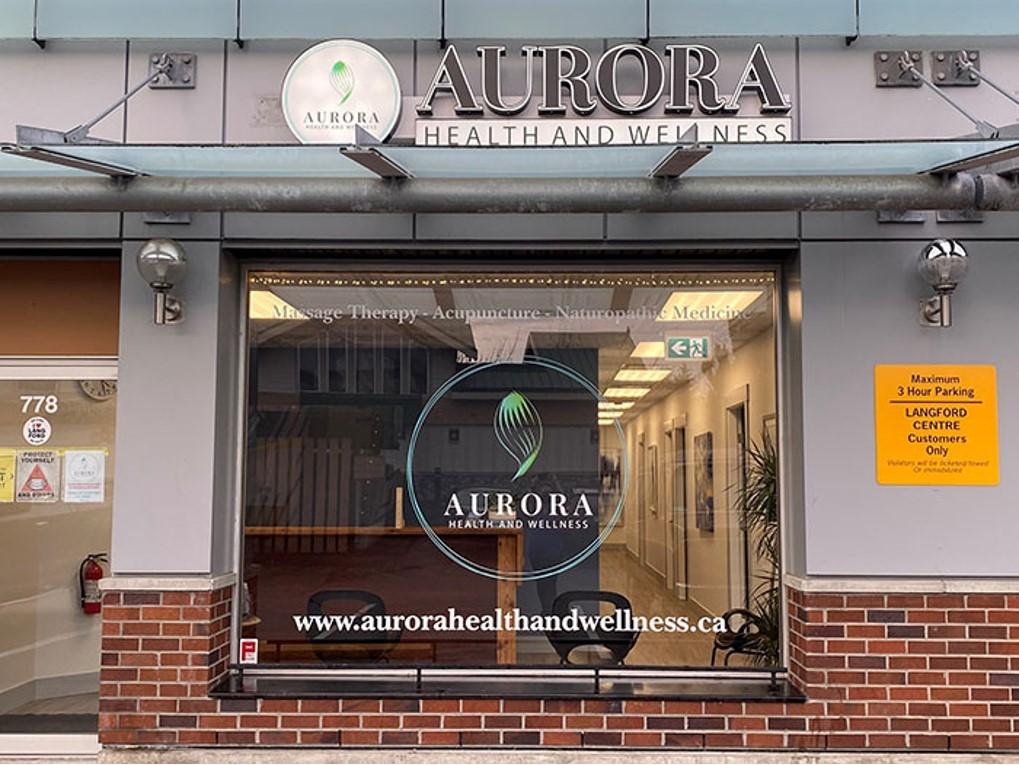 aurora health and wellness goldstream ave langford storefront